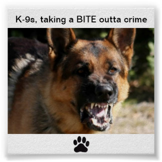Poster...K-9a, taking a BITE outta crime Poster