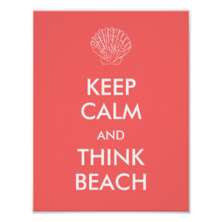 Poster - KEEP CALM BEACH