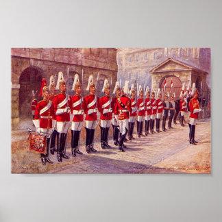 Poster - London, Horse Guards, Four O'Clock Parade