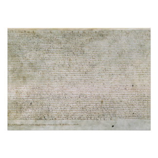 Poster Magna Carta the Charter of Liberties 1215
