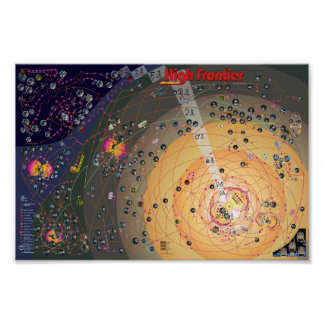 Poster-Map - High Frontier Colonization