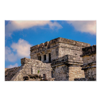 Poster - Mayan Ruins - Tulum, Mexico