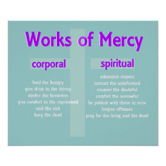 Poster Merciful Works custom graphic art