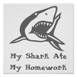 Poster  My Shark Ate My Homework