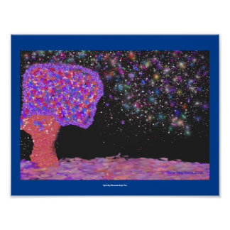 POSTER Night Sky Illumintes Tree Fantasy vision