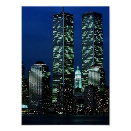 POSTER NYC~ World Trade Centre ~ Twin Towers
