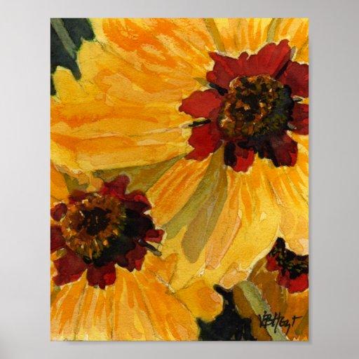 Poster of Brown Eyed Susan Sunflower VBHoyt Art
