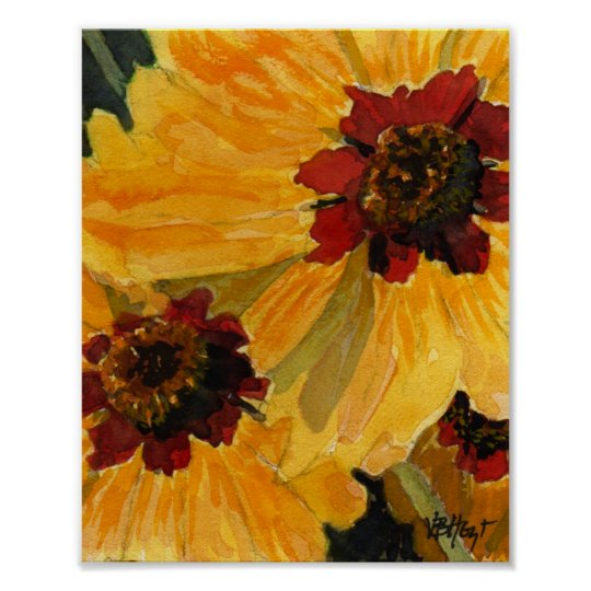 Poster of Brown Eyed Susan Sunflower VBHoyt Art