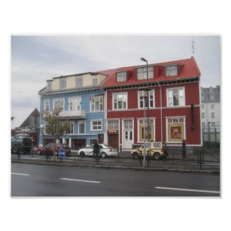 Poster of Colourful Houses in Reykjavik (Iceland)