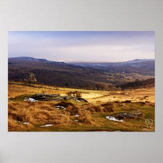 Poster of Dartmoor National Park England