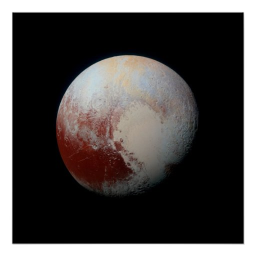 Poster of Dwarf Planet Pluto by NASA New