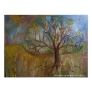 Poster of mixed media painting, Gather Together