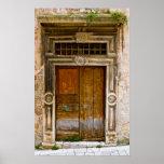 Poster of old, destroyed ancient doorway, Croatia