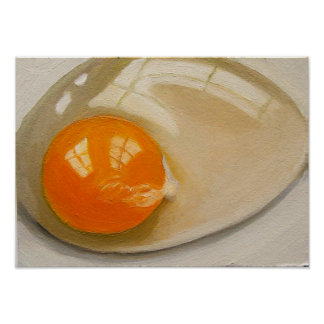 POSTER OF RAW EGG REALISM ARTWORK