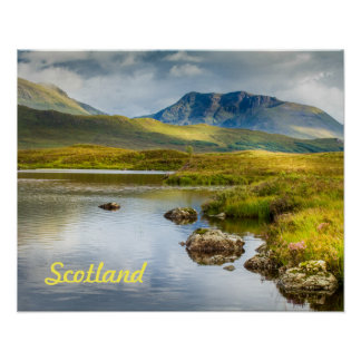 Poster of Scottish Highlands in Scotland.