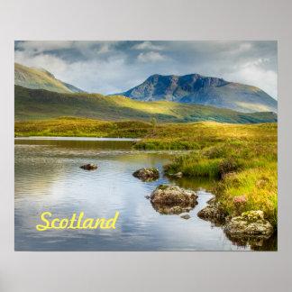 Poster of Scottish Highlands in Scotland.