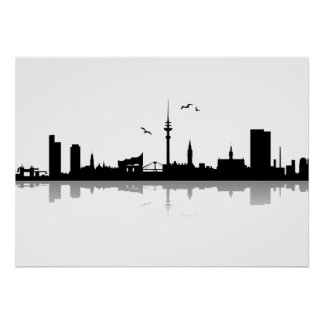 Poster of skyline Hamburg