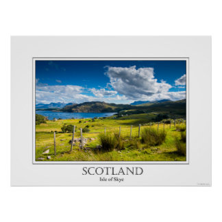 Poster of the Isle of Skye in Scotland