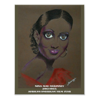 Poster Orig. Art--African-American Film Star