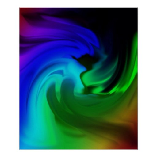 """Poster """"Pep"""" abstractly multicolored"""