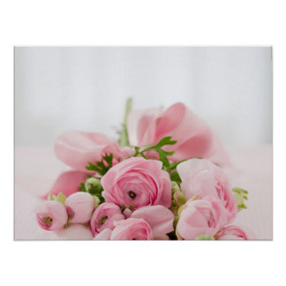 Poster Pink Flowers By Resign