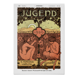 Poster: Pipes of Pan - Jugend Magazine May 1896 Poster