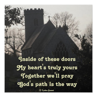 Poster Poem Ode To Pray By Ladee Basset