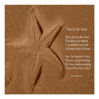 Poster Poem Star In The Sand By Ladee Basset