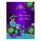 Poster Princess Baby Shower Teal Blue Purple Girl