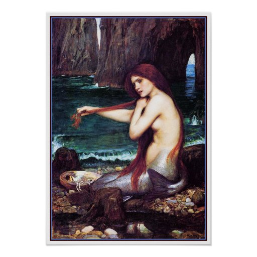 Poster/Print: A Mermaid by John Waterhouse