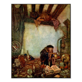 Poster/Print: Alchemist and His Gold-Edmund Dulac Poster