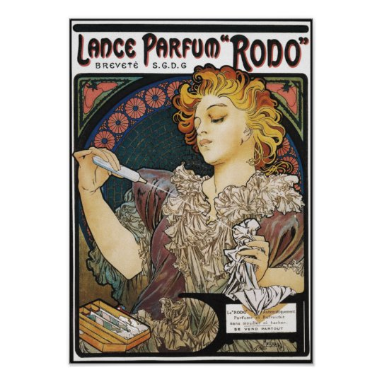 "Poster/Print:  Alphonse Mucha-Lance Parfum ""Rodo"" Poster"