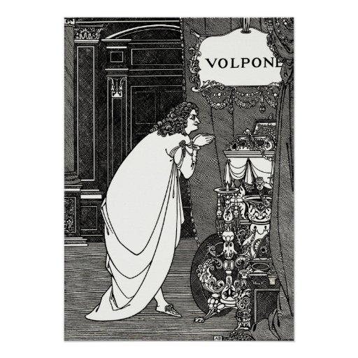 Poster Print: Aubrey Beardsley -Volpone