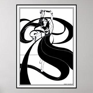 Poster/Print:  Beardsley Illustration Poster