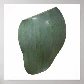 "Poster/Print: ""Celadon Undulate"" Poster"