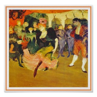 Poster/Print: Dancing the Bolero: Toulouse-Lautrec Poster