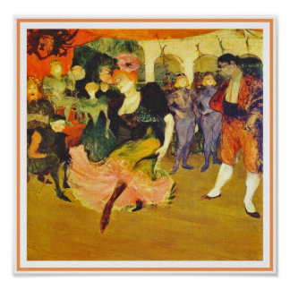 Poster/Print: Dancing the Bolero: Toulouse-Lautrec Poster