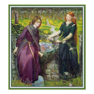 Poster Print Dante s Vision of Rachel and Leah