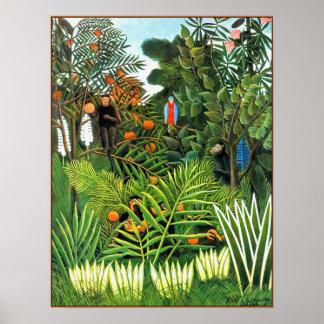 Poster/Print: Exotic Landscape  (Paysage Exotique)