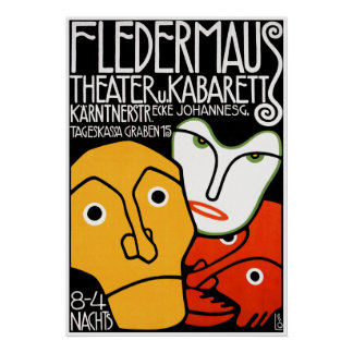 Poster Print Fledermaus Theater and Cabaret
