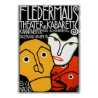 Poster Print: Fledermaus Theatre and Cabaret