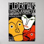 Poster Print: Fledermaus Theatre and Cabaret