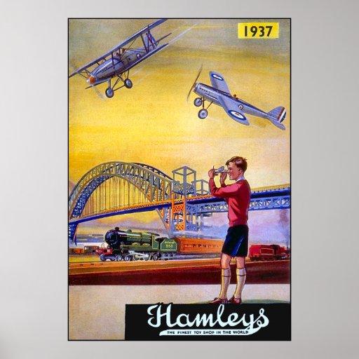 Poster/Print: Hamley's Toy Aeroplanes