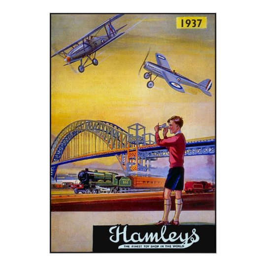 Poster/Print: Hamley's Toy Aeroplanes Poster