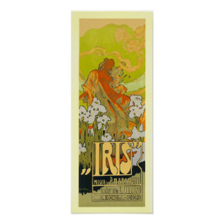 Poster/Print:  Iris - Art Nouveau Poster
