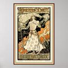 Poster/Print: Jeanne d'Arc, Sarah Bernhardt Poster