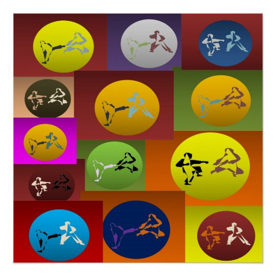 poster print karate martial arts