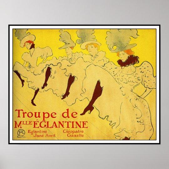 Poster/Print: Lautrec - Troupe de Mlle Eglantine Poster