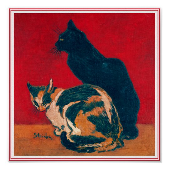 Poster/Print: Les Chats by Theophile Steinlen Poster
