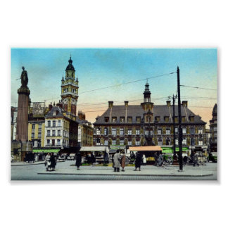Poster/Print - Lille, France - La Bourse Poster